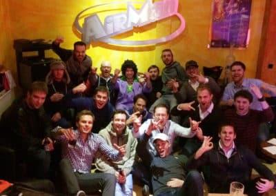 Männllicher JGA bei Party im Tonstudio Hannover