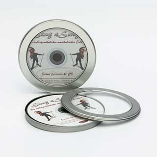 Unsere Metalldosen sind die perfekte Verpackung für deine CD oder DVD
