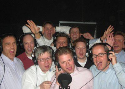 Firmen Aufnahme vor dem Mikrofon | Tonstudio Hannover